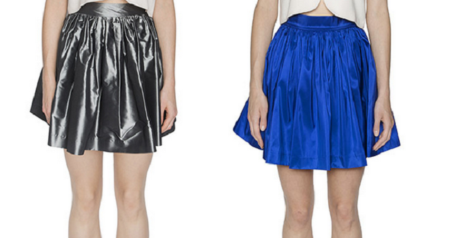 Party Skirts Sophisticated Steel Classic (left) Party Skirts Sapphire Classic (right)