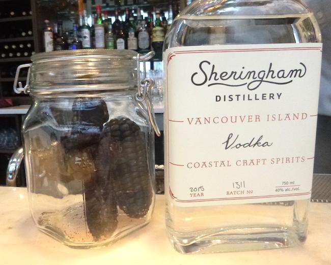 Purple corn, Sheringham Vodka (Lindsay William-Ross/Vancity Buzz)