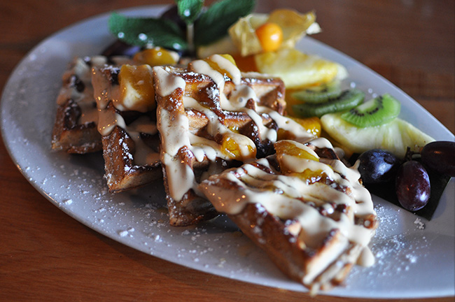 Buttermilk & Sweet Potato Waffles (Jess Fleming / Vancity Buzz)
