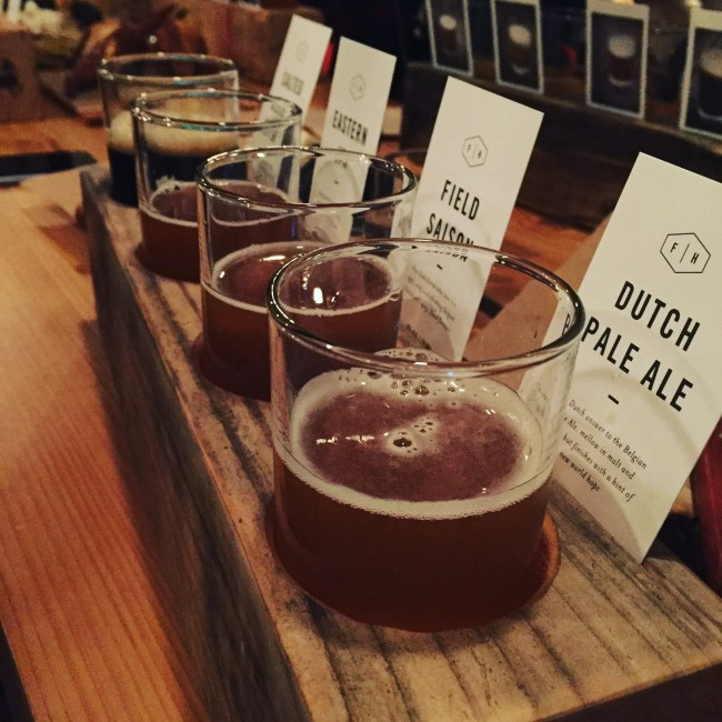 Flight of Field House Craft Beer (Natalie Browne)