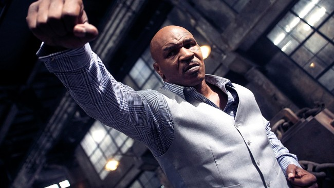 Mike Tyson as the gangster Frank. Image: Amplify Releasing
