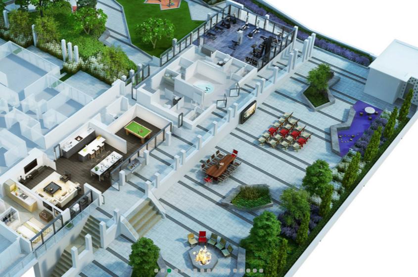 Rooftop amenities/Milano