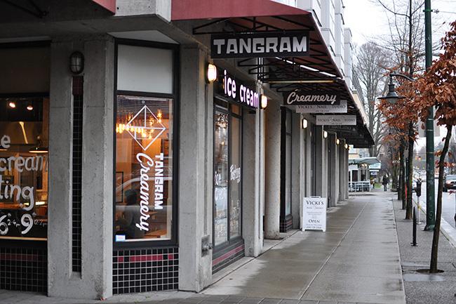 Tangram Creamery's exterior (Jess Fleming / Vancity Buzz)