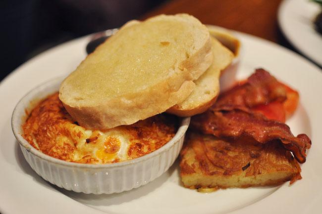 Gruyere baked eggs (Jess Fleming / Vancity Buzz)