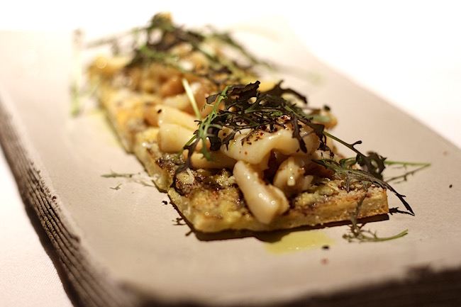 "Sea cucumber ""pizzetta bianca"" (Lindsay William-Ross/Vancity Buzz)"