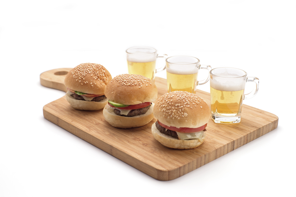 Image: Mini Burgers & Beer Shots / Shutterstock