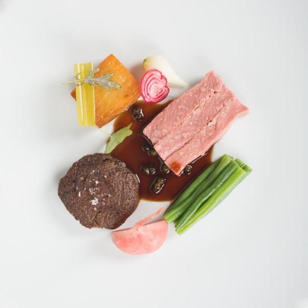 Entrecôte Steak: pomme anna, green peppercorn jus