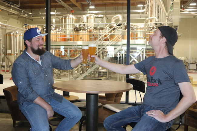 Brewmaster Jody Hammell on the right (Photo courtesy Big Rock Brewery)