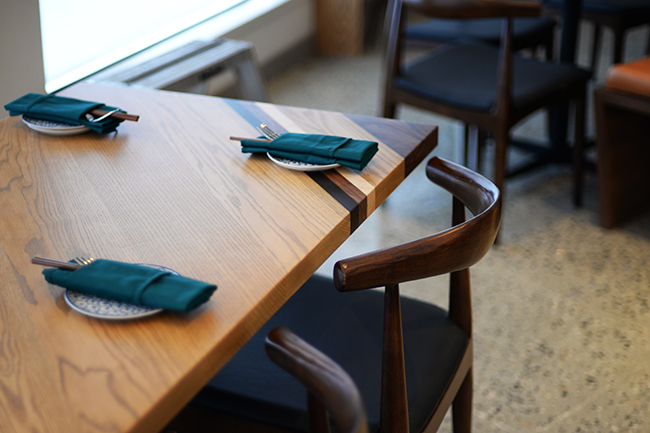 Table setting at Anh + Chi (Jess Fleming / Vancity Buzz)