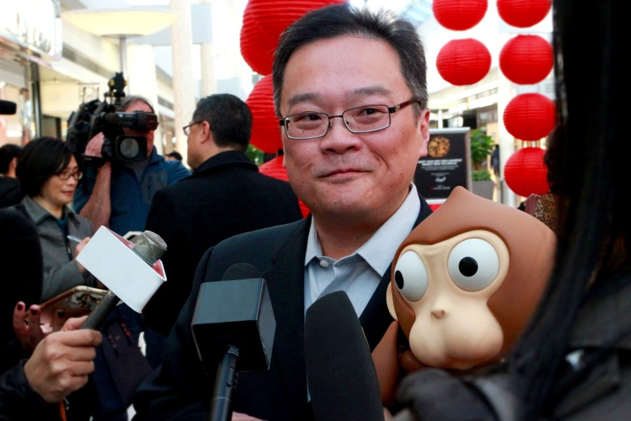 Charlie Wu with Lunarfest Monkey