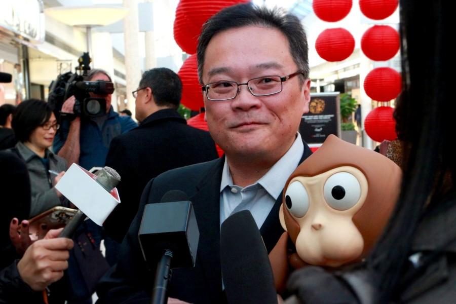 Charlie Wu with Lunarfest Monkey