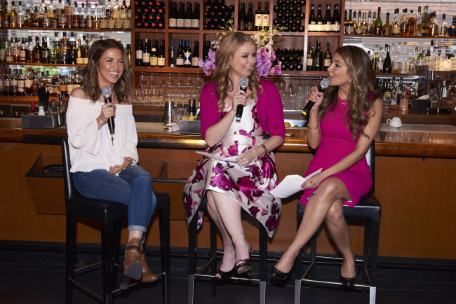 Hosts interviewing Kaitlyn Bristowe (Erich Saide photography)