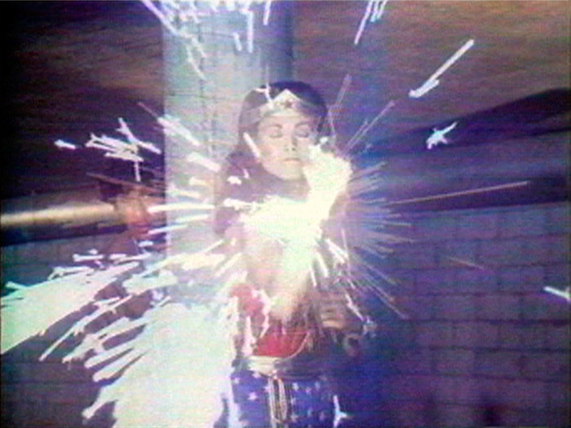 Image: Technology Transformation/Wonder Woman by Dara Birnbaum / Video Still courtesy Electronic Arts