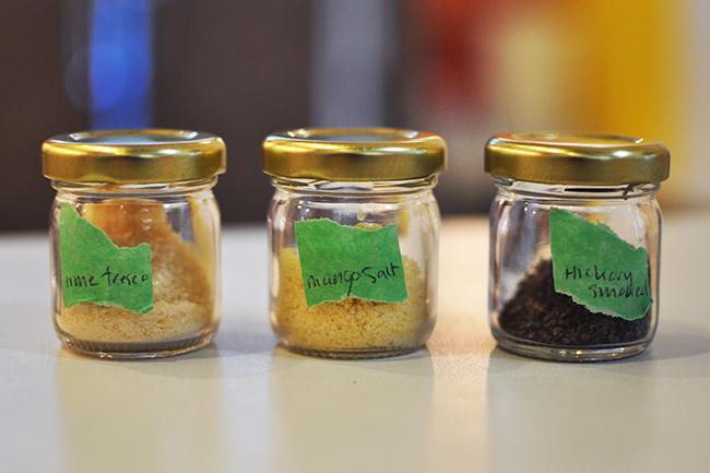 Nice Vice's salt selection (Jess Fleming / Vancity Buzz)