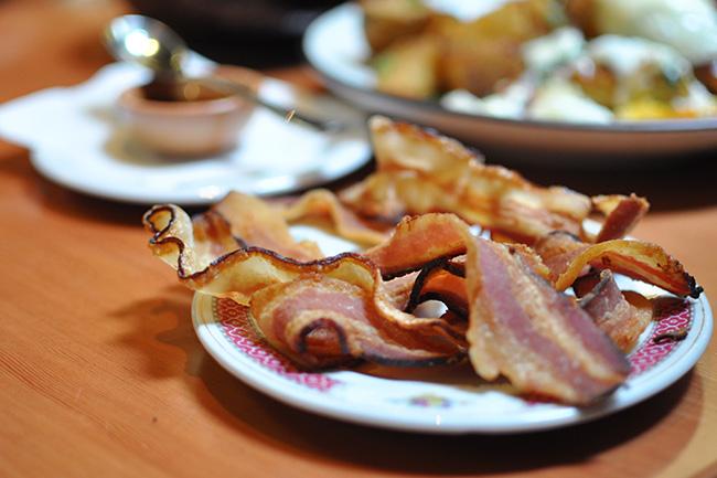 Wonderfully smoky bacon at Sai Woo (Jess Fleming / Vancity Buzz)