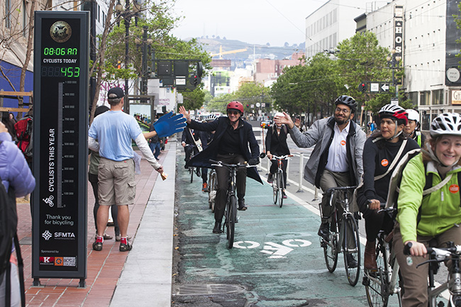 San Francisco's Market Street (Image: Eco-Counter)