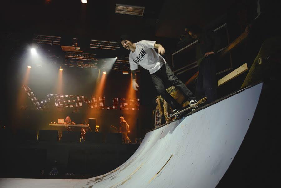 Skate ramp at venue
