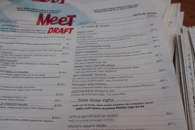During soft launch, the menu is in draft mode (Lindsay William-Ross/Vancity Buzz)