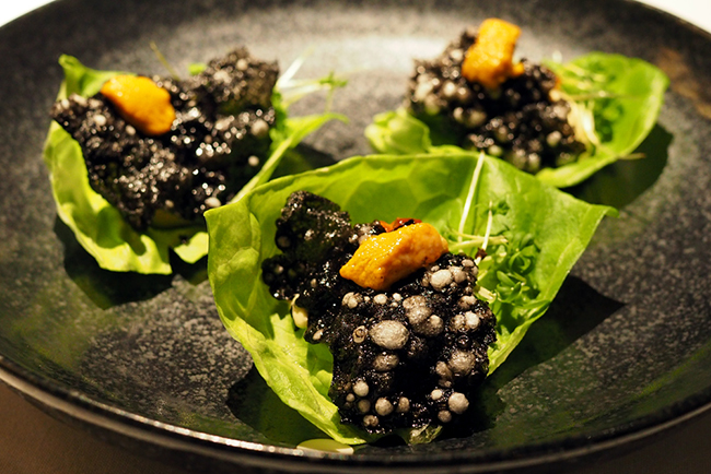 Sea urchin mousse (Dennis Pang)