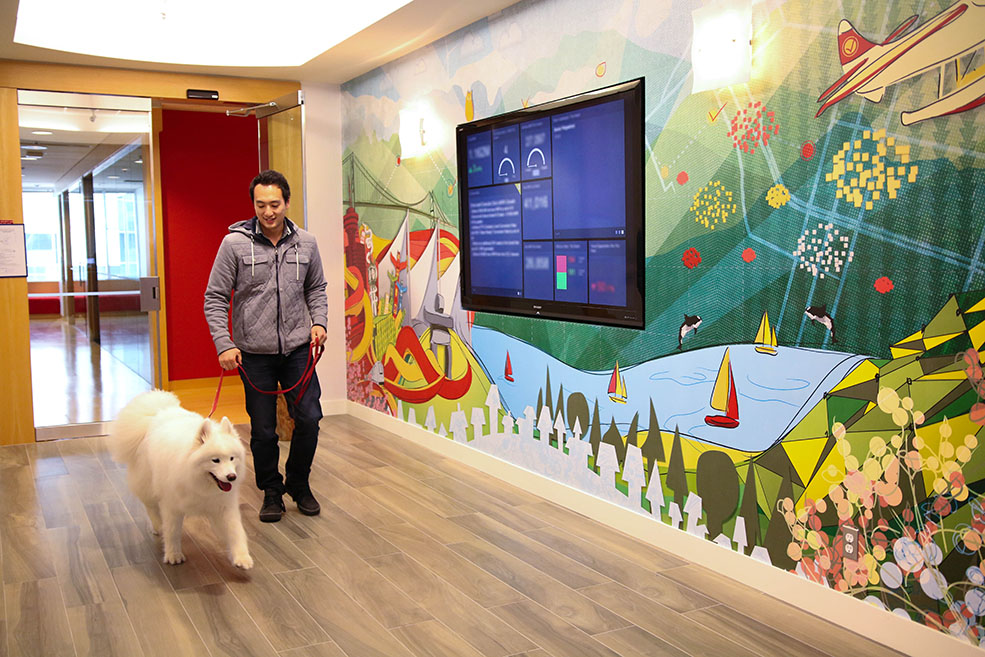 You too could be walking your dog at the Clio office in Vancouver (Clio)
