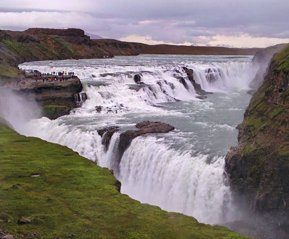 Gullfoss, the Golden Waterfall, in Iceland (Jenni Sheppard)