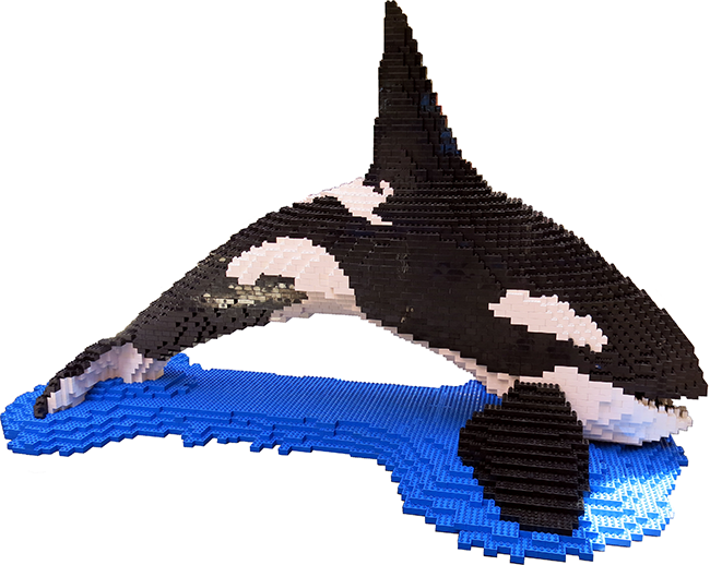 LEGO Orca built by Robin Sather (BrickCan)