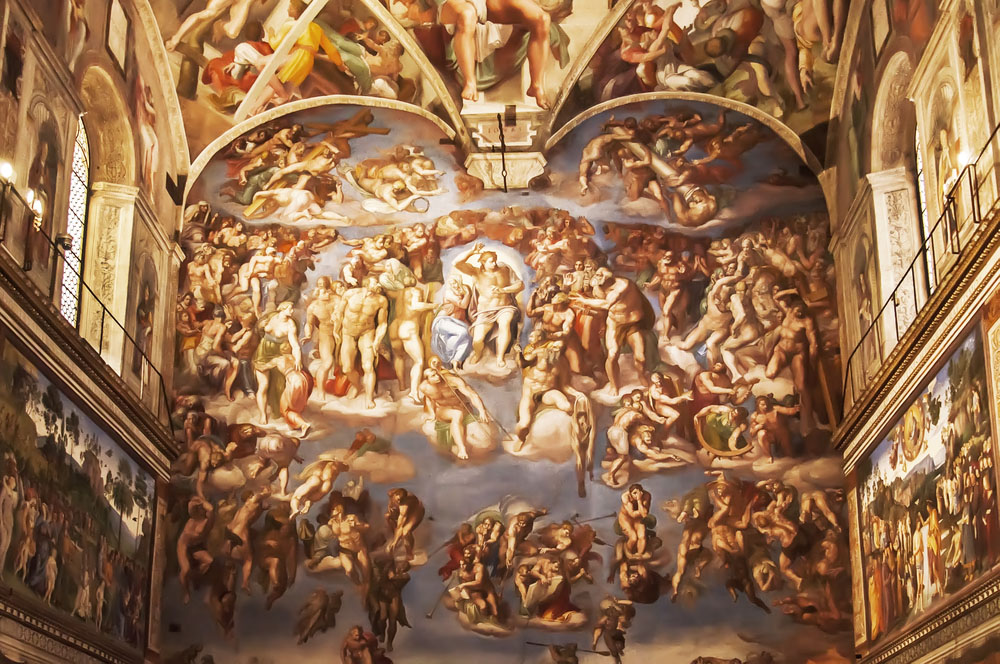 Michelangelo's magnificent Last Judgement inside the Sistine Chapel in Vatican City (edella/Shutterstock)