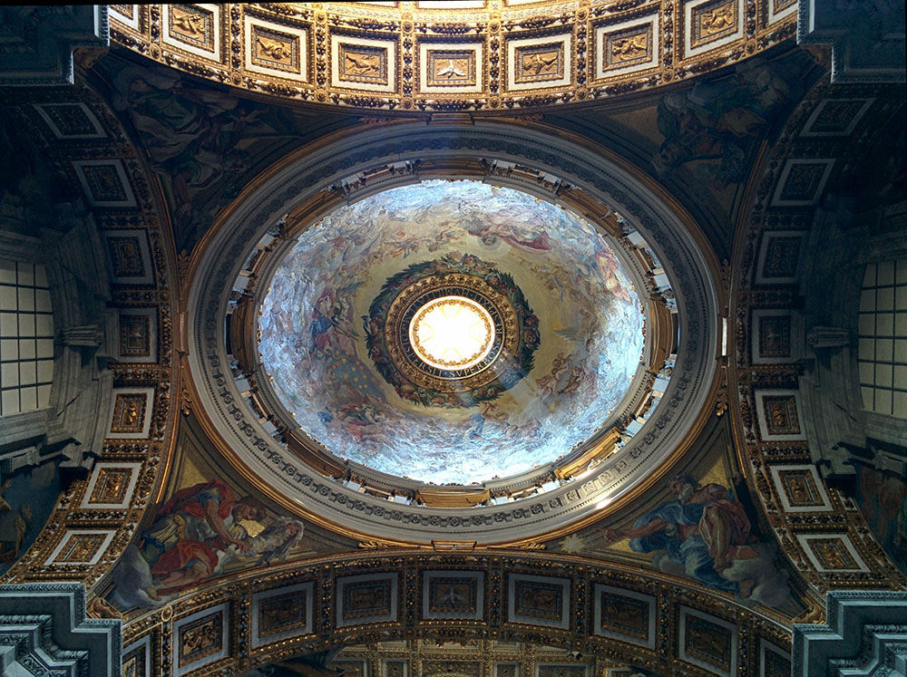 The ceiling of St. Peter's Basilica (Jenni Sheppard)
