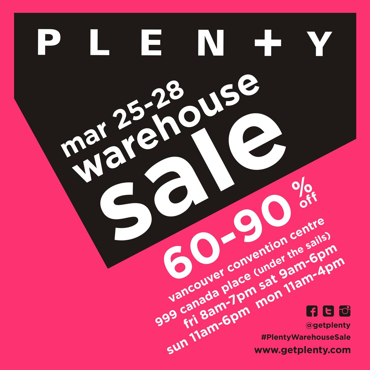 Image: Plenty Warehouse Sale