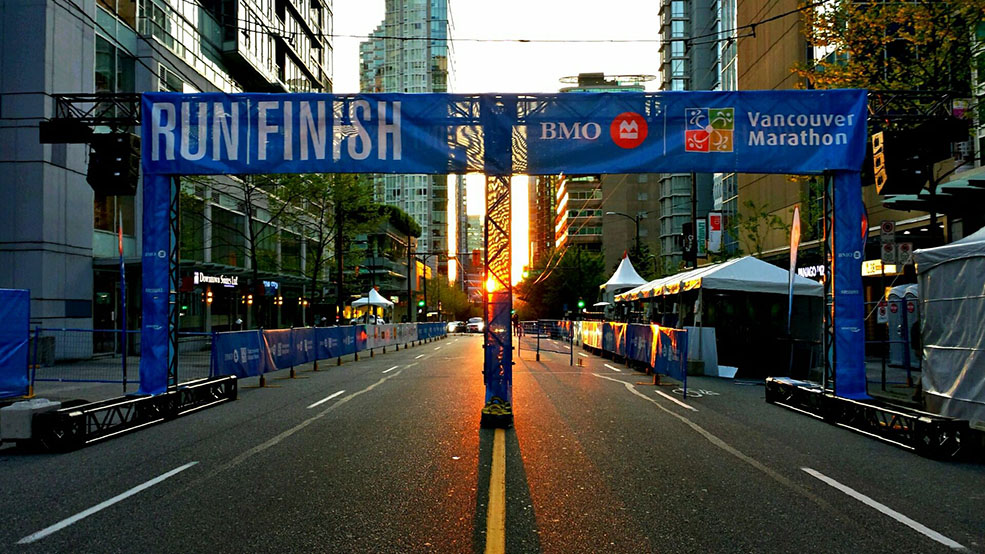 The Finish Line! (BMO Vancouver Marathon)