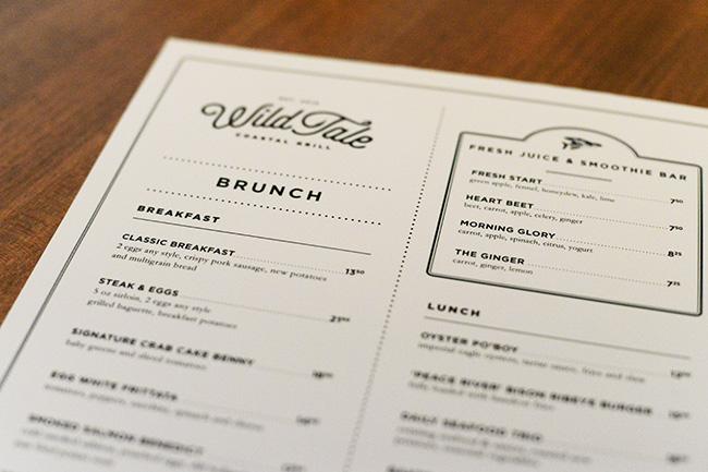 Weekend brunch menu at WildTale (Jess Fleming / Vancity Buzz)