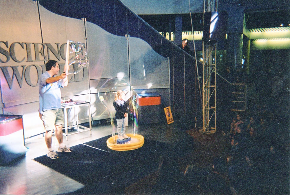 Huge bubble fun at Science World in 1989 (Science World)