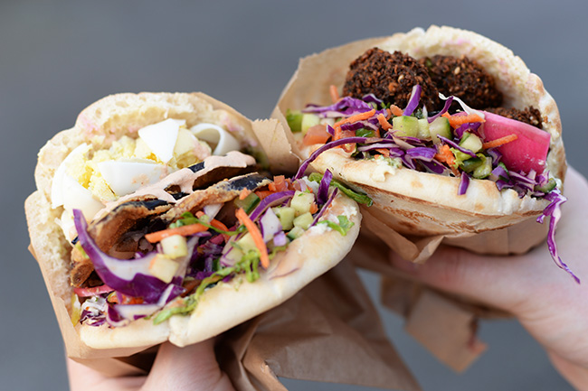 Pita pockets at Chickpea food truck (Jess Fleming / Vancity Buzz)