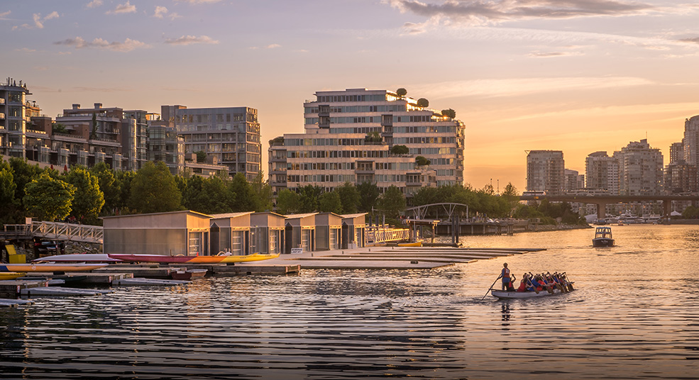 A rendering of the new Paddling Centre in False Creek (Concord Pacific)