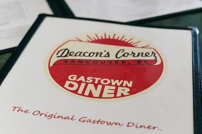 Brunch menu at Deacon's Corner (Jess Fleming / Vancity Buzz)