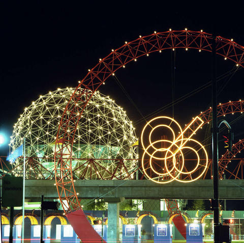 The main entrance to Expo 86 (B.C. Archives)