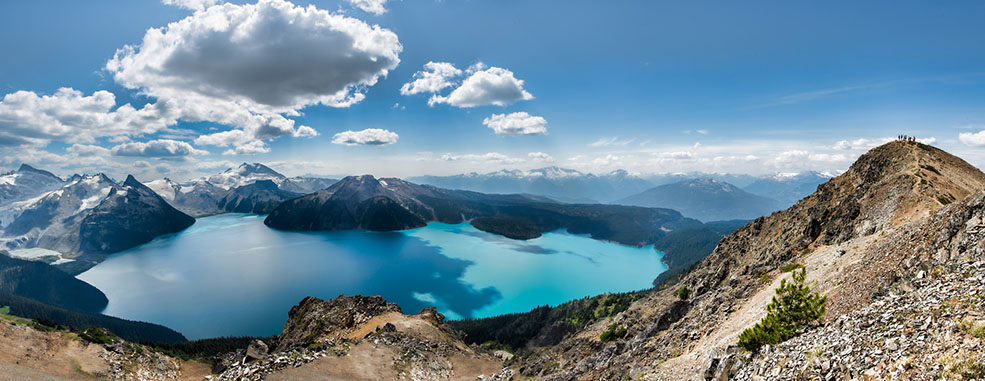 The spectacular view of Garibaldi Lake makes the hike worth it! (James Wheeler)