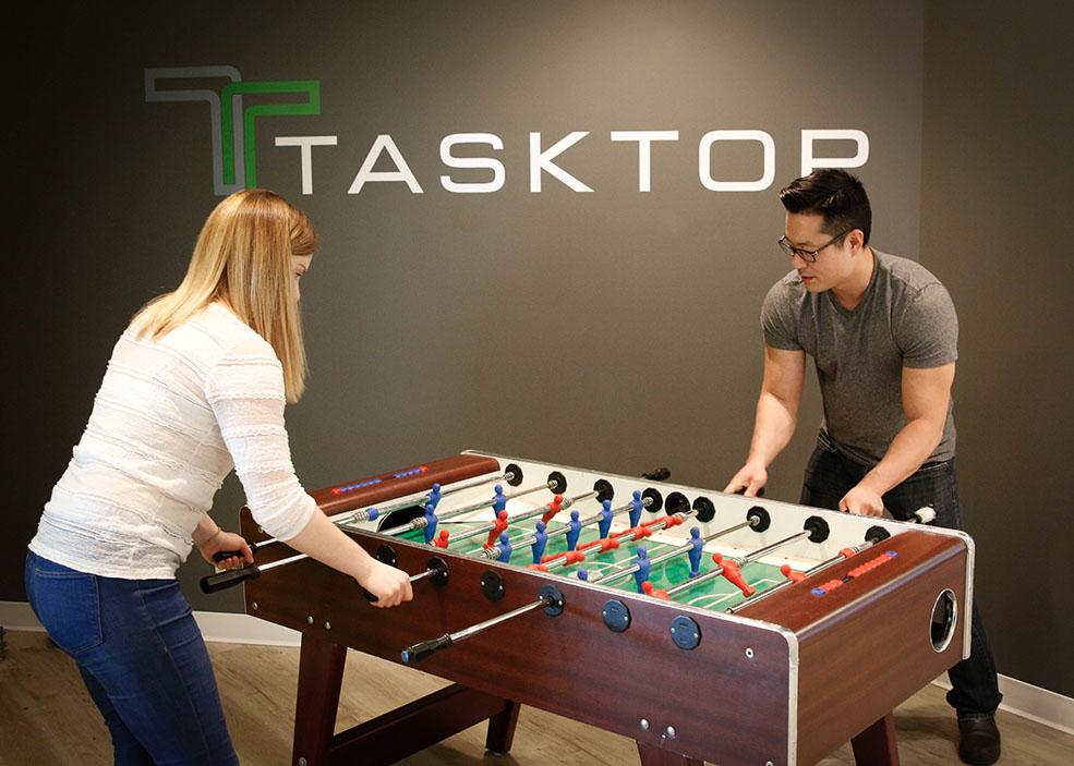 Tasktop staff love their foosball! (Tasktop)