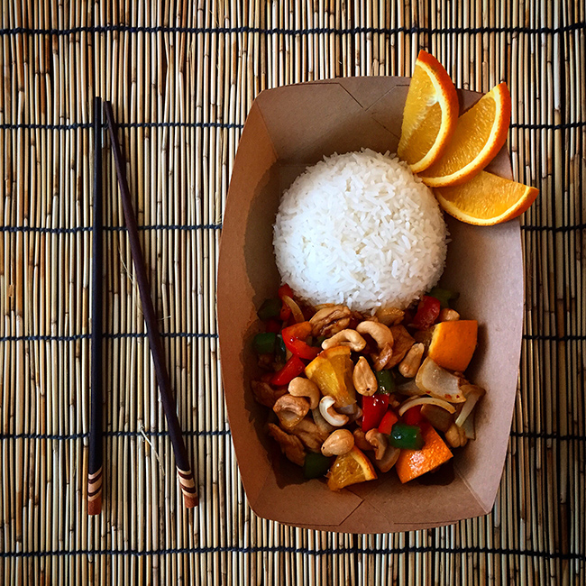 Citrus Cashew Chicken (photo courtesy of Miss Siam)