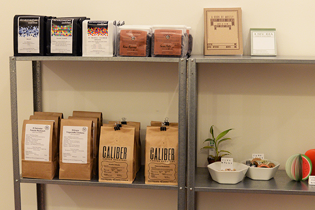 Retail products at The Dog and Squirrel (Jess Fleming / Vancity Buzz)