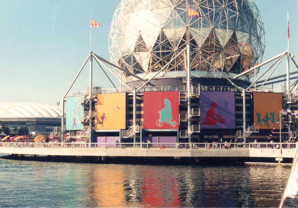 Science World, then known as the Expo Centre, at Expo 86 (Science World)