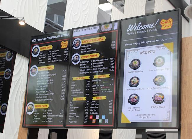 The menu (Lindsay William-Ross/Vancity Buzz)