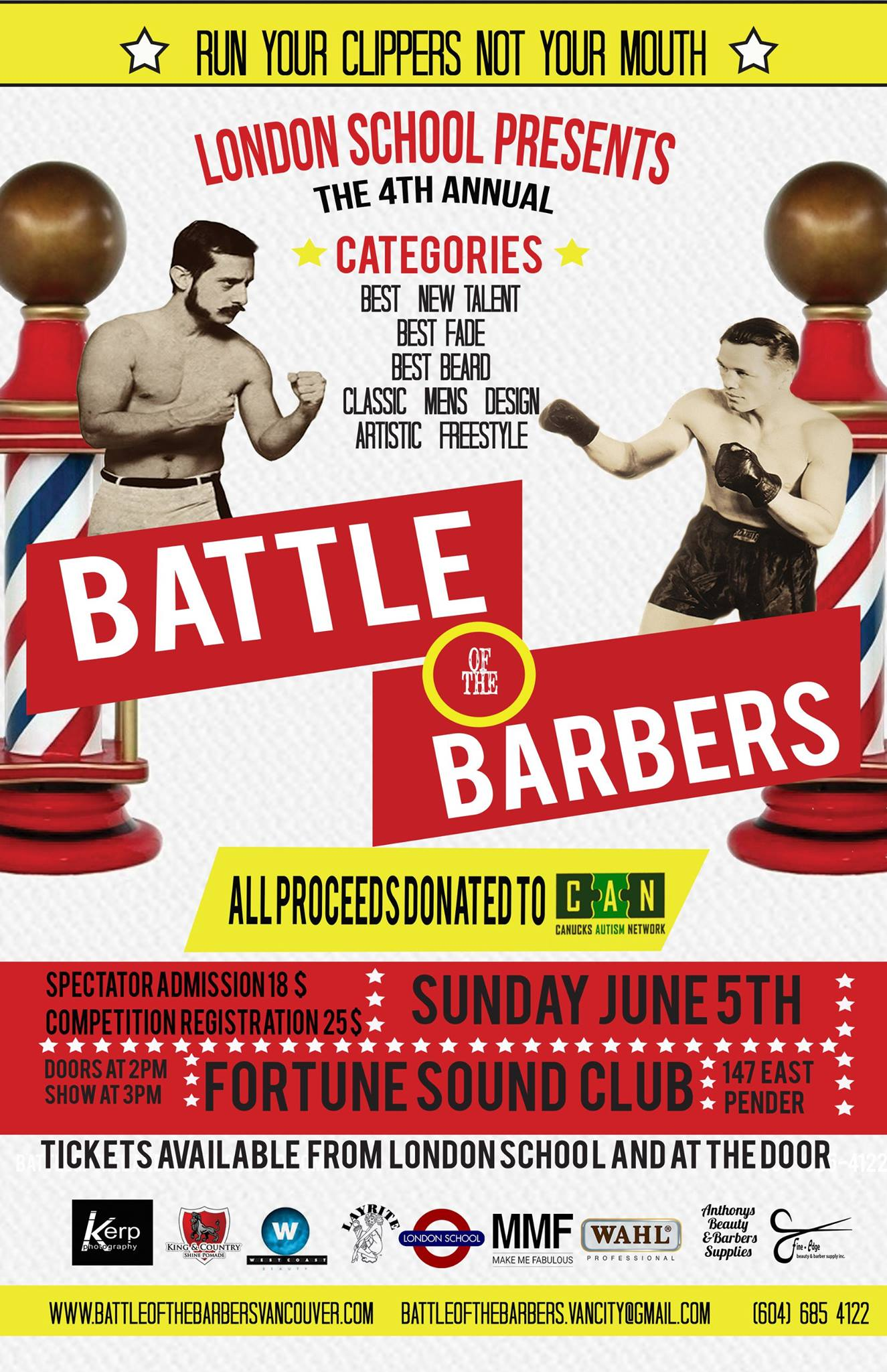 Come to Battle of the Barbers 2016! (London School/Facebook)
