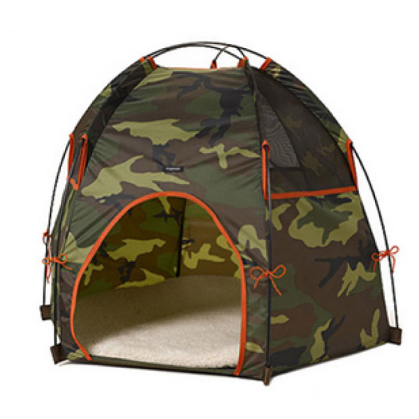 Camo pup tent, from Barking Babies.