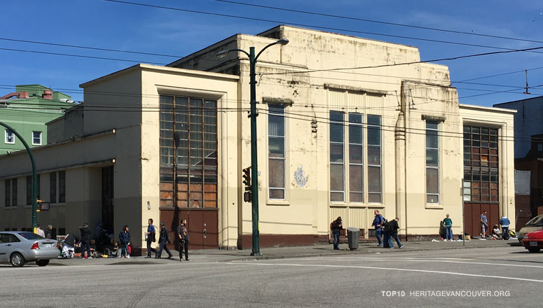 The Salvation Army Temple is the last significant historic purpose-built assembly building in the Downtown Eastside. (Heritage Vancouver)