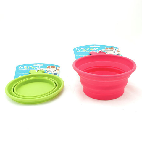 Messy Mutts collapsible bowl, courtesy Bones Pet Stores in Yaletown.