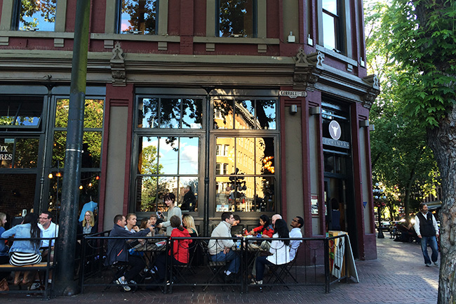 Peckinpah's patio (Jess Fleming / Vancity Buzz)