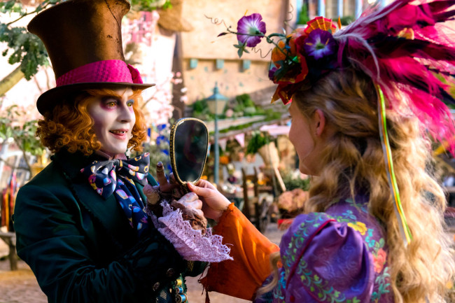 Alice meeting a younger Mad Hatter. Image: Disney