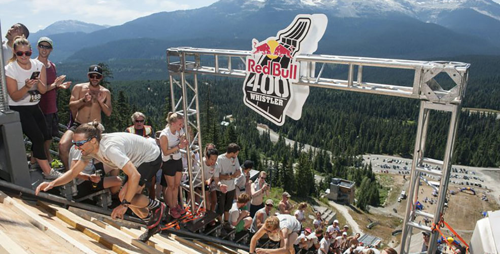 Brandon Crichton at the 2015 Red Bull 400 in Whistler (Brian Caissie/Red Bull Content Pool)
