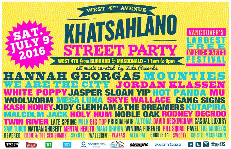 Khatsahlano Street Party 2016 poster (Khatsahlano Street Party)